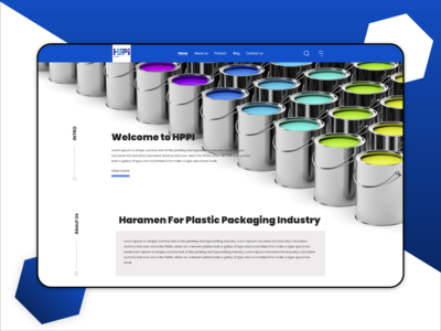 Landing Page For Packaging Products Company
