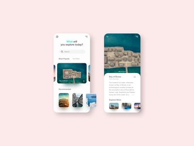 Explore Europe - Mobile App Concept