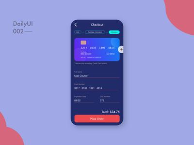 Credit Card Checkout DailyUI 2/100