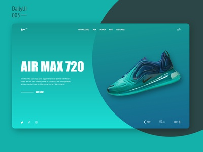 Air Max 720 Landing Page Concept - DailyUI002