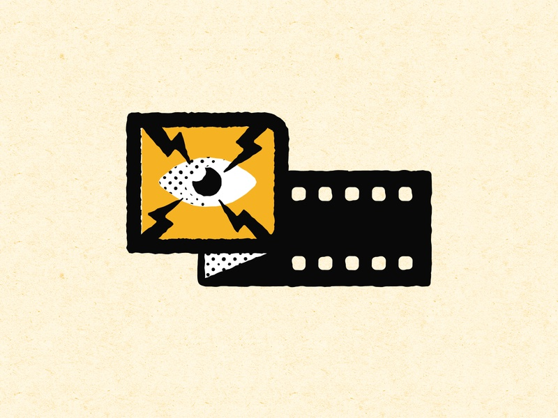 Custom Preshow Illustration vector branding illustration design system alamo drafthouse movies