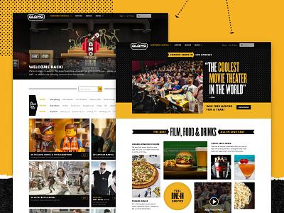 The New Drafthouse.com web design ux design branding design system alamo drafthouse movies