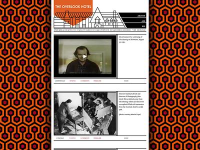 The Overlook Hotel web design 2012 pixar lee unkrich theme tumblr the shining movies branding