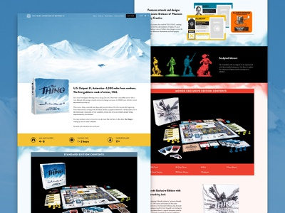 The Thing: Infection at Outpost 31 2017 board game product page ecommerce web design movies