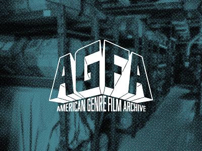 American Genre Film Archive (AGFA) Logo vector 2012 typography branding alamo drafthouse movies logo