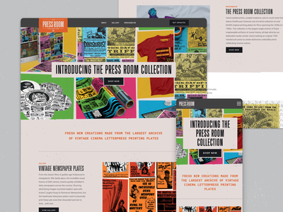 The Press Room Website ecommerce webflow web design alamo drafthouse movies