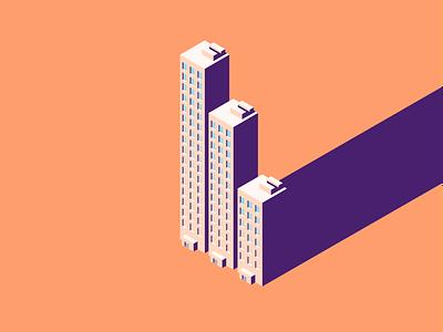 Cities and Logistics design branding bank app illustration