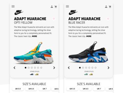 Shoe Ecommerce Concept