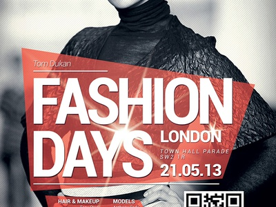 Fashion Flyer / Poster 2 stylish psd print poster portrait model makeup lifestyles jeans hairstyle hair glamour