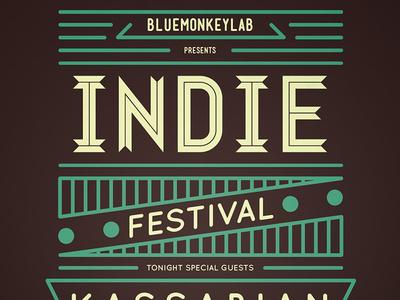 Indie Flyer / Poster 14 week vintage rock ribbon retro psd print poster indie grunge