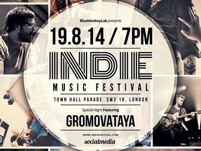 Indie Flyer / Poster 17 week vintage rock psd print poster indie grunge gig