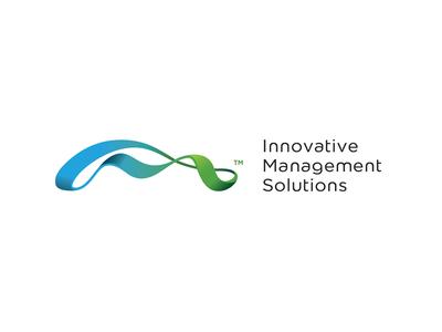 Innovative Management Solutions branding road identity corporate logo icon colorful pr management finance ribbon mobius monogram i m s gradient design designer path