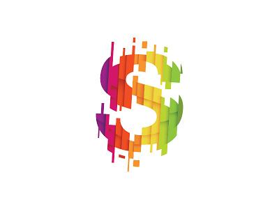 Superlatief logo s media online slices sliced paint drip modern colorful colourful identity branding netherlands rainbow symbol mark