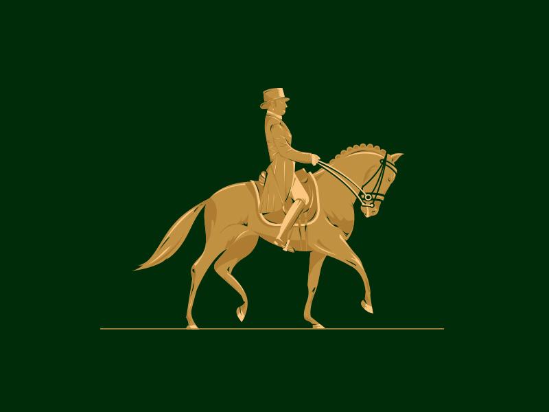 Horse Logo logo identity crest illustration horse equine equestrian gold polo