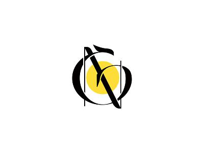 Monogram vector mark typography illustration symbol branding identity logo monogram