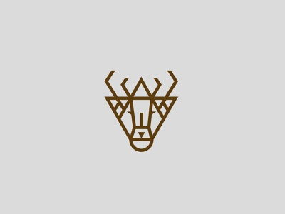 Deer Mark stag mark character illustration animal symbol icon identity branding logo deer