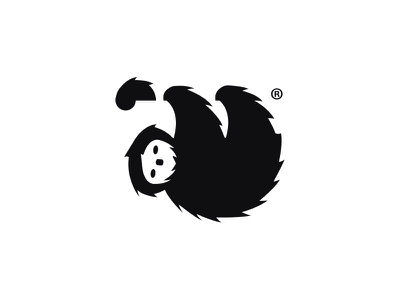 Sloth Logo mark branding symbol negative space jungle identity logo animal sloth