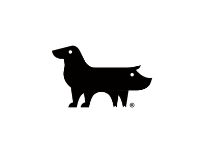 Pig Dog Logo symbol branding identity logo dog pig animal beer