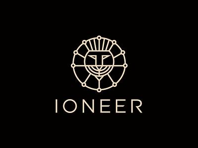 Ioneer digital business punjabi connection lion branding icon logo