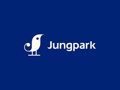 Jungpark j park development symbol bird icon branding logo