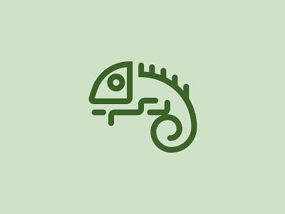Chameleon Logo symbol mark animal branding icon logo flexibility internet tech lizard chameleon