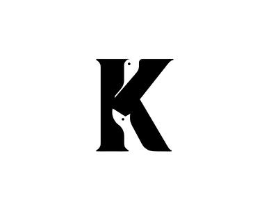 K Logo WIP illustration animal negative space tree nature dog bird k icon mark branding logo