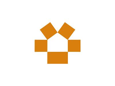 Moving Logo branding icon logo negative space sun box house moving home
