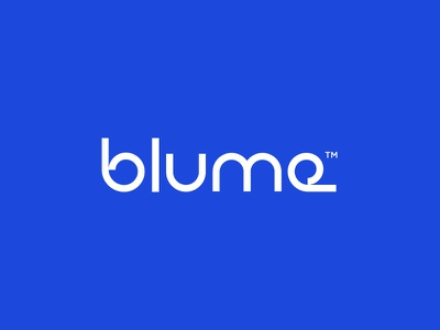 Blume wordmark typographer typography type branding icon logo lettering font logotype blume