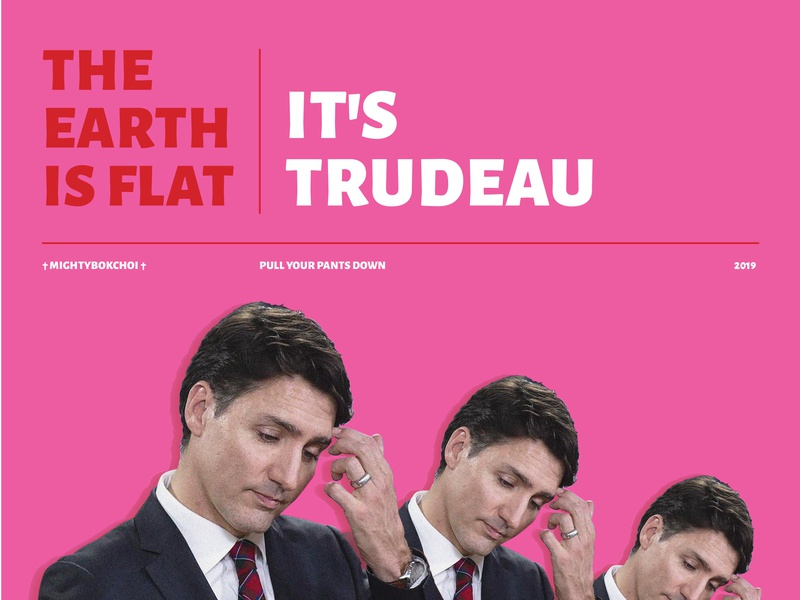 Trudeau Mouse Pad graphicdesign pink typography canada trudeau