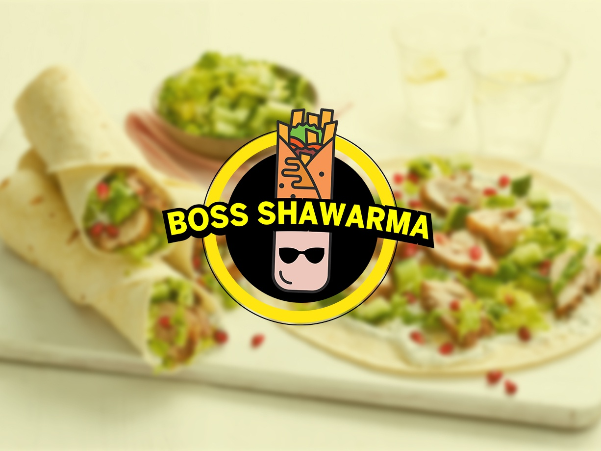 BOSS SHAWARMA design branding logo philippines vector icon