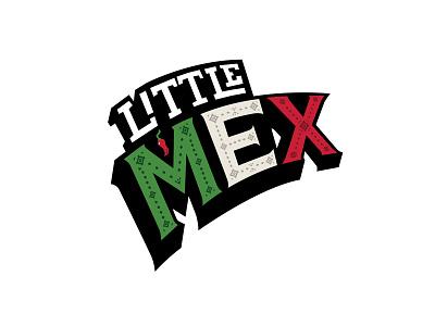 Little Mex logo restaurant logo graphic design branding