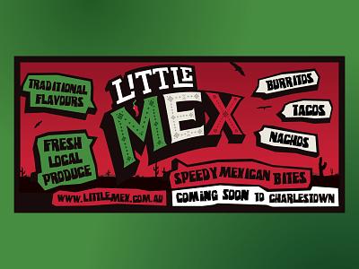 Little Mex menu flyer flyer restaurant branding graphic design