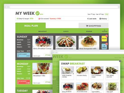 Nat's Nutritious Delicious - Meal Planner ui ux information architecture website design web app design user experience design user interface design