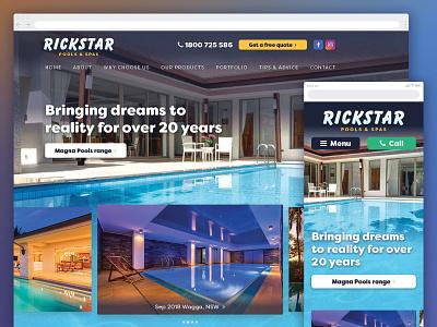 Rickstar Pools & Spas web design ui web design website design