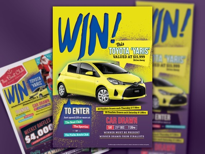 Win a Yaris poster event branding graphic design