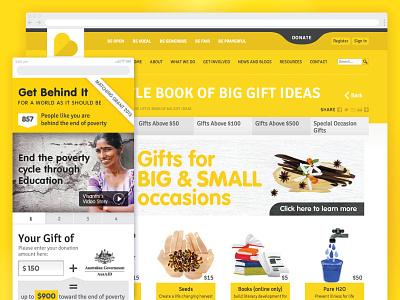 Baptist World Aid website design - Giftshop webdesign user experience design user experience user interface design userinterface ui