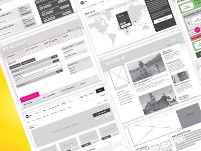 Baptist World Aid website design - wireframes web design information architecture wireframing user interface design user experience design