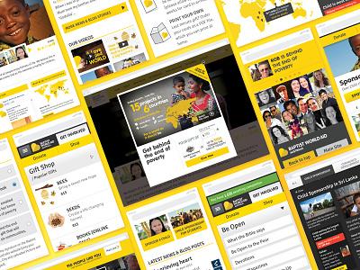Baptist World Aid website design ux ui user experience design user interface design website design