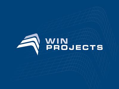 WIN Projects logo design stationary design stationery branding brand identity logo design graphic design logo