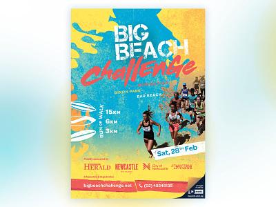 Big Beach Challenge poster event branding graphic design