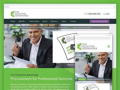 dribbble 1 TCA portThe Collective Advantage UI designfolio web design ui user interface design