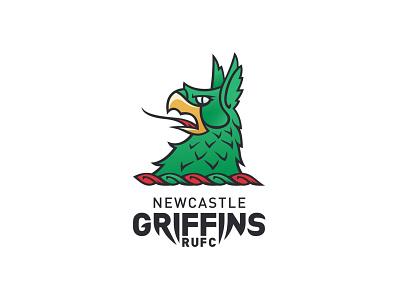 Newcastle Griffins logo design logo design brand identity branding logo graphic design