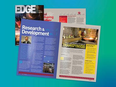 Doosan Babcock Energy - The Edge Magazine adobe indesign publication design magazine design editorial design graphic design