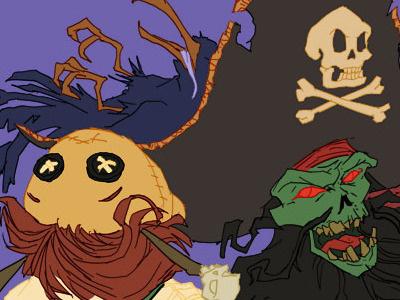 Le Chuck's Revenge Flats lechuck photoshop illustration tutorial david cousens guybrush voodoo doll pirate monkey island cool surface