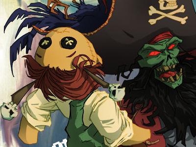 Le Chuck's Revenge Shade1 lechuck photoshop illustration tutorial david cousens guybrush voodoo doll pirate monkey island cool surface