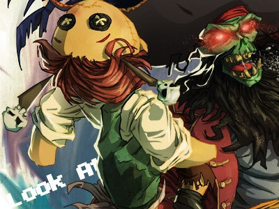 Le Chuck's Getting There lechuck photoshop illustration tutorial david cousens guybrush voodoo doll pirate monkey island cool surface