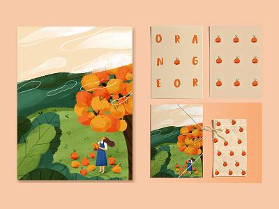 orange web banner ui 插画 illustration