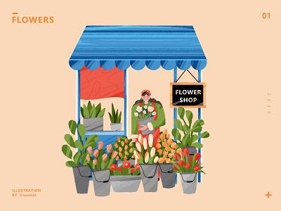 Flowers photoshop 插画 illustration