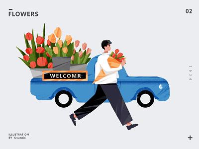 flowers flower 插画 illustration