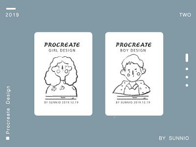 Character design procreate illustration